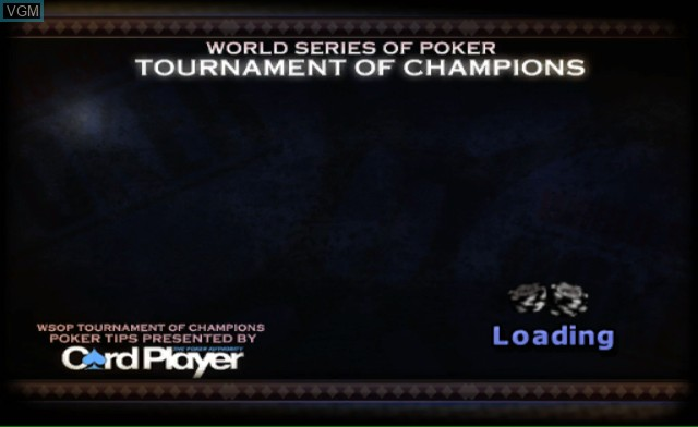 Title screen of the game World Series of Poker - Tournament of Champions on Nintendo Wii