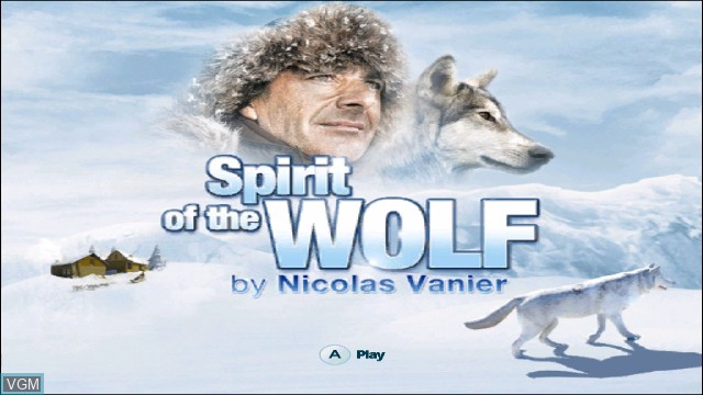 Title screen of the game L'esprit du Loup on Nintendo Wii