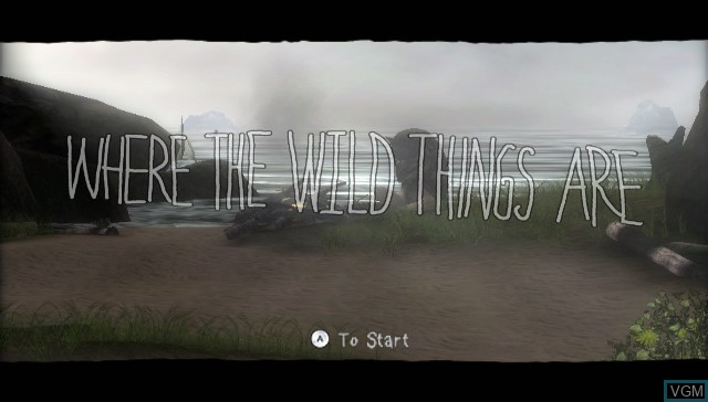 Title screen of the game Where the Wild Things Are - The Videogame on Nintendo Wii