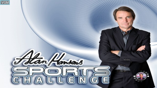 Title screen of the game Alan Hansen's Sports Challenge on Nintendo Wii