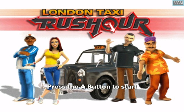 Title screen of the game London Taxi - Rush Hour on Nintendo Wii