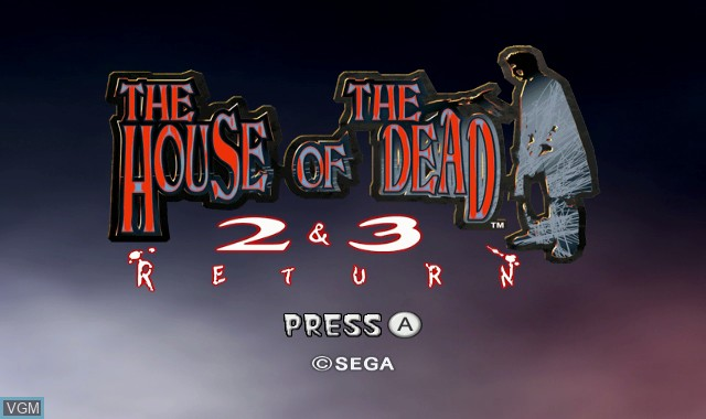 Title screen of the game House of the Dead 2 & 3 Return, The on Nintendo Wii