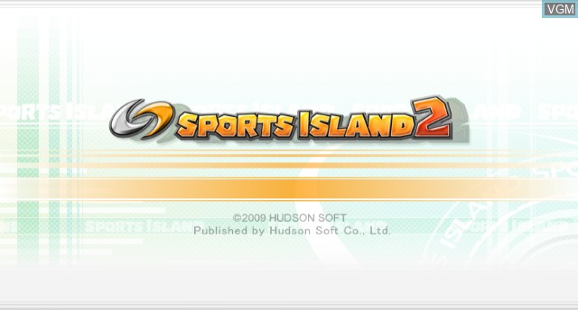 Title screen of the game Sports Island 2 on Nintendo Wii