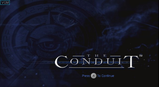 Title screen of the game Conduit, The on Nintendo Wii