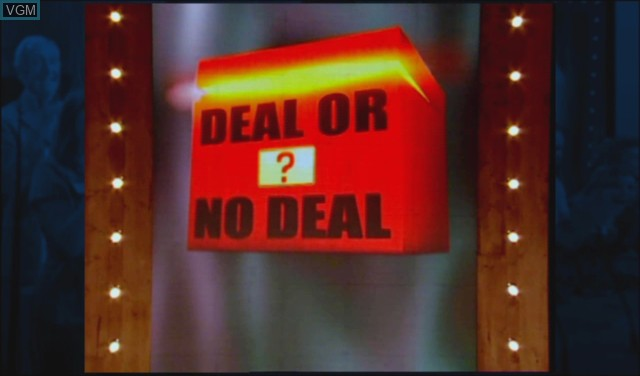Title screen of the game Deal or No Deal - The Banker Is Back on Nintendo Wii