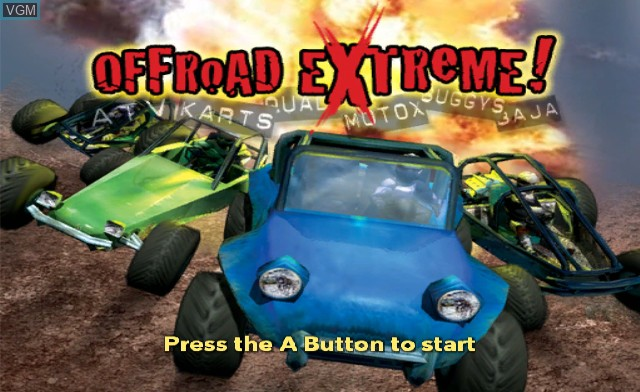 Title screen of the game Offroad Extreme! on Nintendo Wii