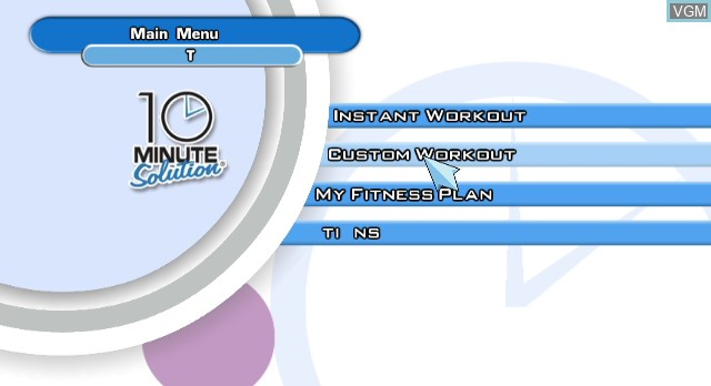 Title screen of the game 10 Minute Solution on Nintendo Wii