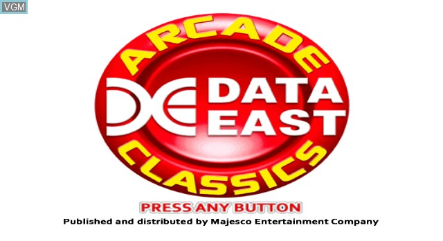 Title screen of the game Data East Arcade Classics on Nintendo Wii
