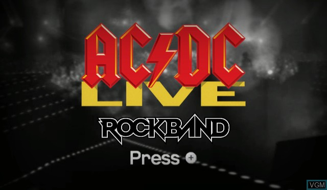 Title screen of the game AC/DC Live - Rock Band Song Pack on Nintendo Wii