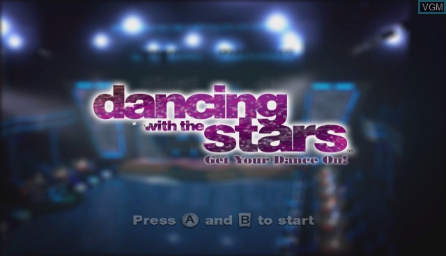 Title screen of the game Dancing with the Stars - We Dance! on Nintendo Wii