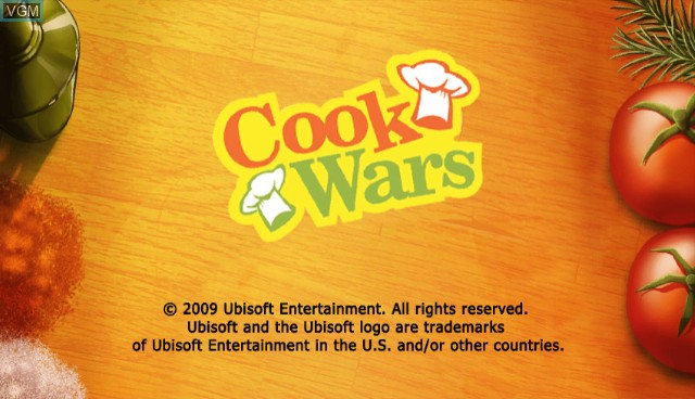 Title screen of the game Cook Wars on Nintendo Wii