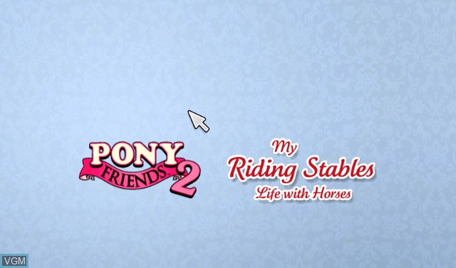 Title screen of the game 2-in-1 - Pony Friends 2 + My Riding Stables - Life with Horses on Nintendo Wii