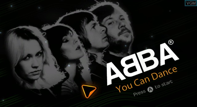 Title screen of the game ABBA - You Can Dance on Nintendo Wii