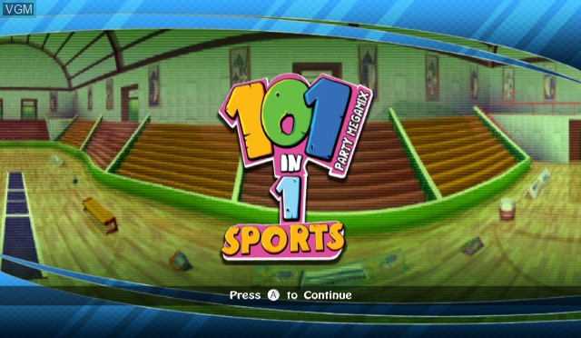 Title screen of the game 101-in-1 Sports Party Megamix on Nintendo Wii