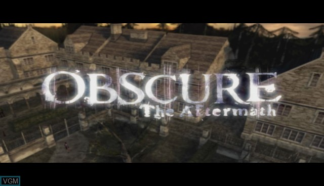 Title screen of the game Obscure - The Aftermath on Nintendo Wii