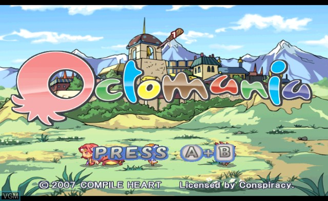 Title screen of the game Octomania on Nintendo Wii