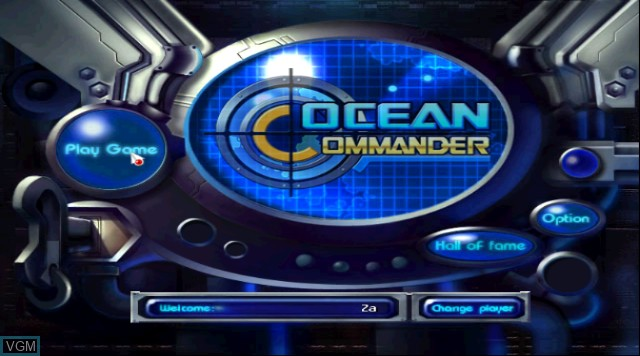 Title screen of the game Ocean Commander on Nintendo Wii