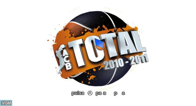 Title screen of the game ACB Total 2010/2011 on Nintendo Wii