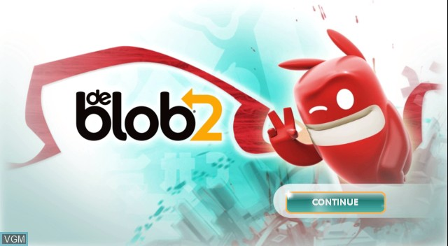 Title screen of the game de Blob 2 on Nintendo Wii