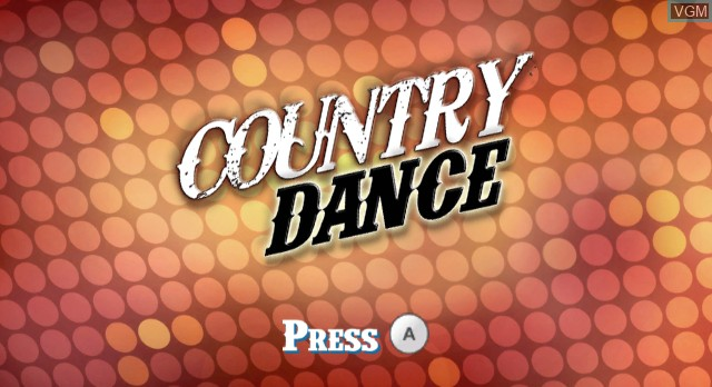 Title screen of the game Country Dance on Nintendo Wii
