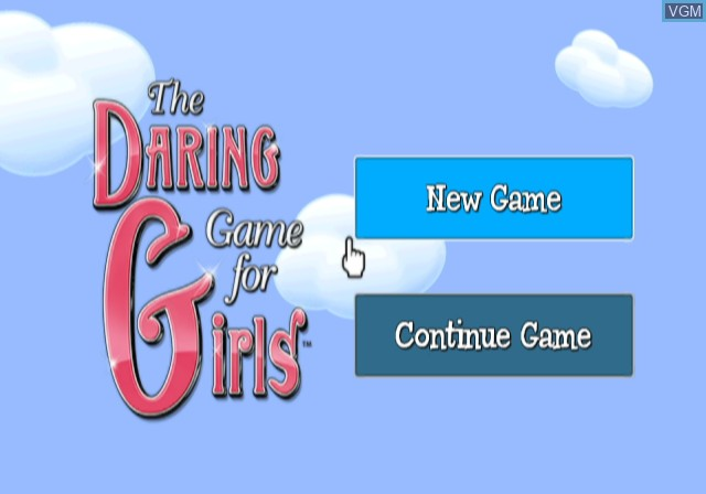 Title screen of the game Daring Game for Girls, The on Nintendo Wii
