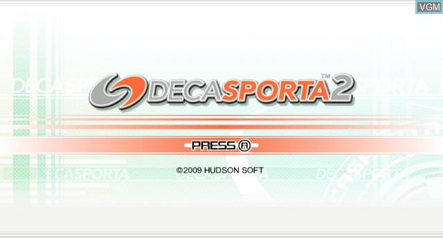 Title screen of the game Deca Sporta 2 on Nintendo Wii