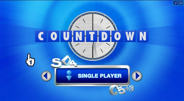 Title screen of the game Countdown - The Game on Nintendo Wii