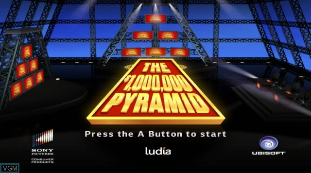 Title screen of the game $1,000,000 Pyramid, The on Nintendo Wii
