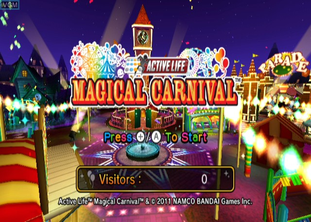 Title screen of the game Active Life - Magical Carnival on Nintendo Wii