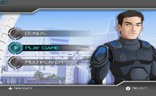 Menu screen of the game Emergency Heroes on Nintendo Wii