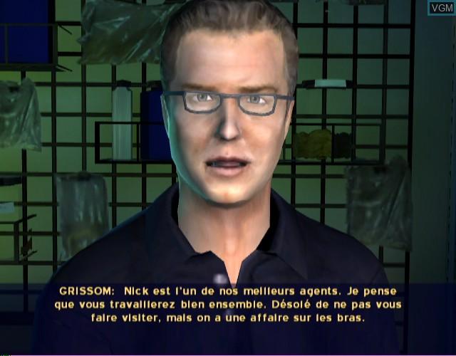 Menu screen of the game CSI - Crime Scene Investigation - Hard Evidence on Nintendo Wii