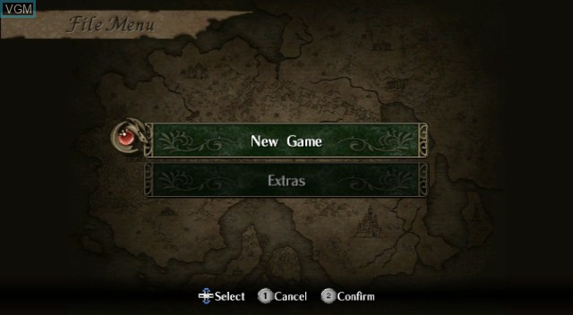 Menu screen of the game Fire Emblem - Radiant Dawn on Nintendo Wii