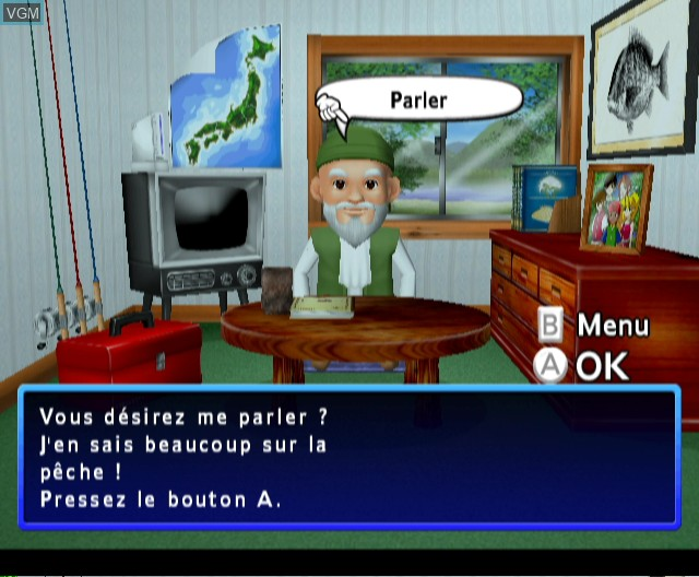 Menu screen of the game Fishing Master on Nintendo Wii