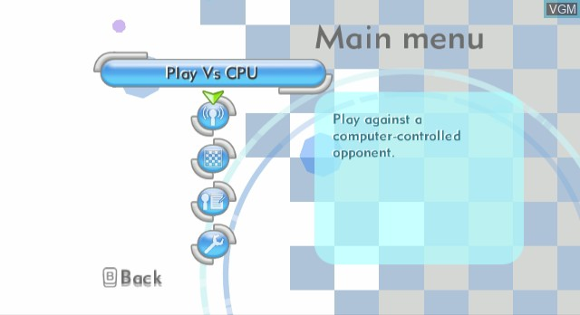 Menu screen of the game Wii Chess on Nintendo Wii