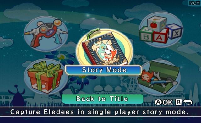 Menu screen of the game Eledees on Nintendo Wii