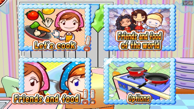 Menu screen of the game Cooking Mama - Cook Off on Nintendo Wii