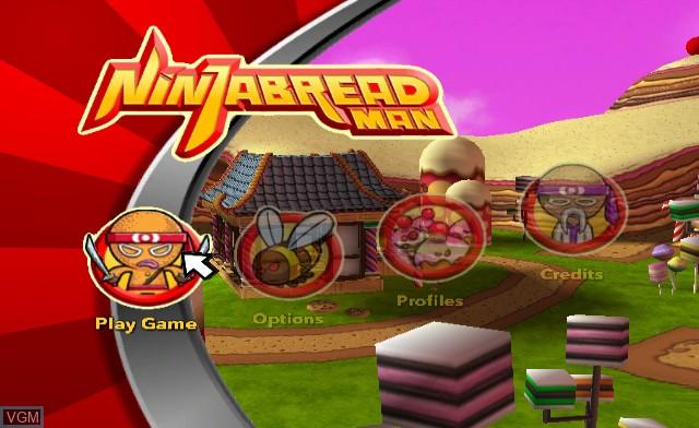 Menu screen of the game Ninjabread Man on Nintendo Wii