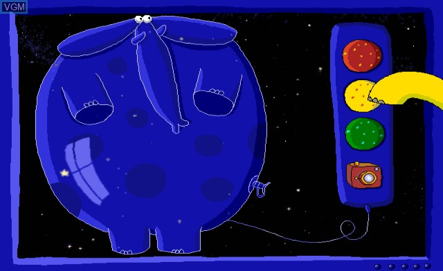 Menu screen of the game Cosmic Family on Nintendo Wii
