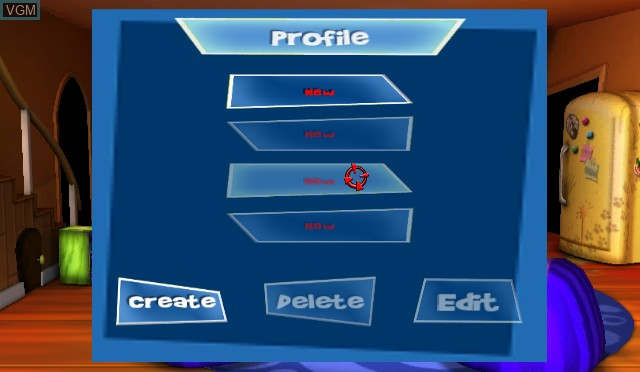 Menu screen of the game 101-in-1 Party Megamix on Nintendo Wii