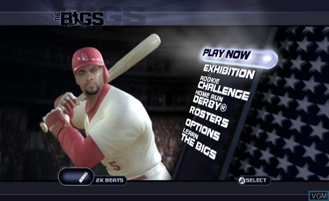 Menu screen of the game BIGS, The on Nintendo Wii
