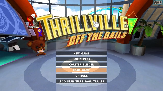 Menu screen of the game Thrillville - Off the Rails on Nintendo Wii