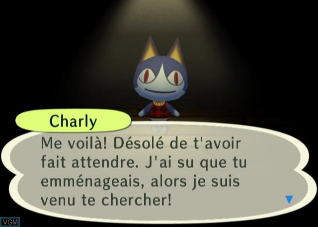 Menu screen of the game Animal Crossing - City Folk on Nintendo Wii