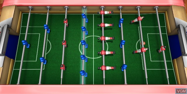 Menu screen of the game Table Football on Nintendo Wii