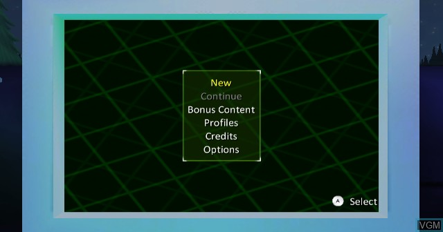 Menu screen of the game Ben 10 - Alien Force on Nintendo Wii
