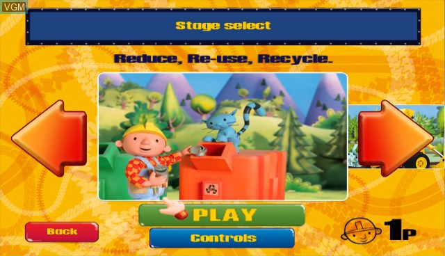 Menu screen of the game Bob the Builder - Festival of Fun on Nintendo Wii