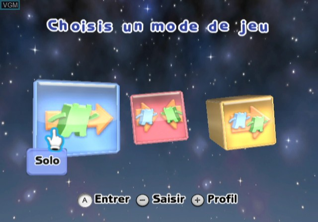 Menu screen of the game Boom Blox - Bash Party on Nintendo Wii