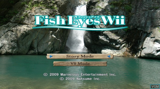 Menu screen of the game Fish Eyes Wii on Nintendo Wii