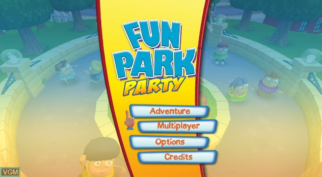 Menu screen of the game Fun Park Party on Nintendo Wii