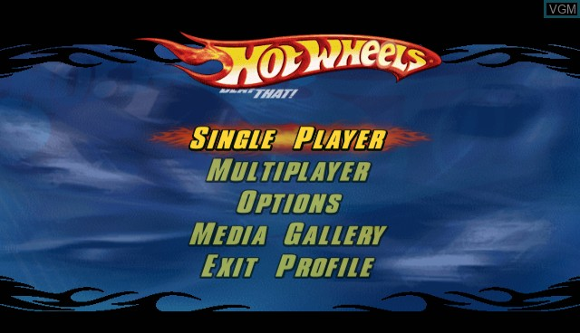 Menu screen of the game Hot Wheels - Beat That on Nintendo Wii