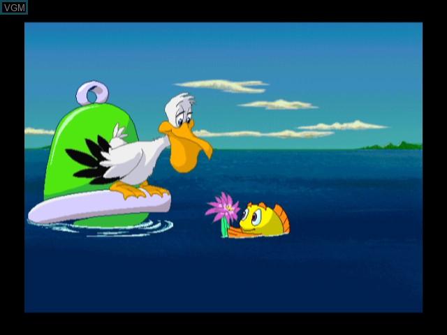 Menu screen of the game Freddi Fish in Kelp Seed Mystery on Nintendo Wii